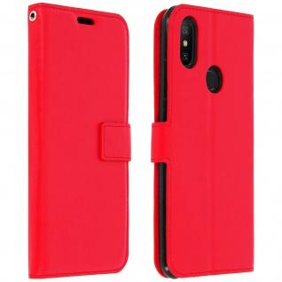 Flip Cover Stand Case Brieftasche & Standfunktion für Xiaomi Mi A2 - Rot