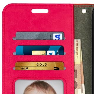 Flip Cover Stand Case Brieftasche & Standfunktion für Huawei P20 - Rosa - Vorschau 4