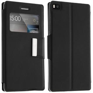 Flip-Schutzhülle mit Sichtfenster für Huawei P8 - Schwarz