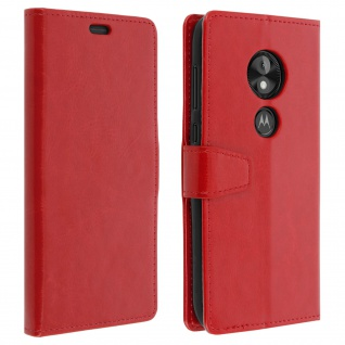 Motorola Moto E5 Play Flip-Cover mit Kartenfächern & Standfunktion - Rot
