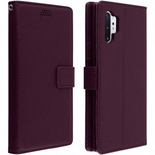 Samsung Galaxy Note 10 Plus Cover mit Kartenfächern & Standfunktion - Violett
