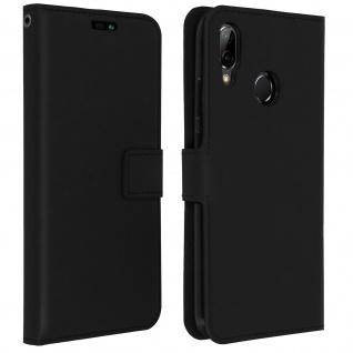 Flip Cover Stand Case Brieftasche & Standfunktion für Huawei P20 Lite - Schwarz