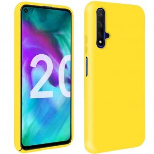 Halbsteife Silikon Handyhülle Honor 20, Huawei Nova 5T, Soft Touch - Gelb