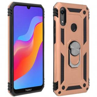 Hybrid Handyhülle mit Ring Halterung für Huawei Y6 2019 - Rosegold