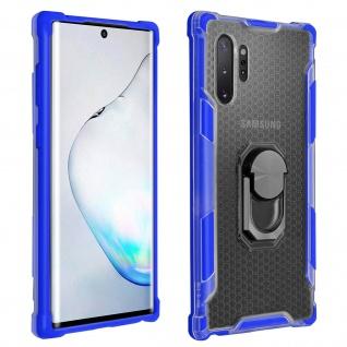 Hybrid Handyhülle mit Ring Halterung für Samsung Galaxy Note 10 Plus - Blau