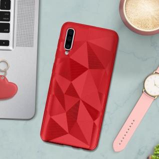 Holographische Handyhülle für Samsung Galaxy A50, Prism Design, Mocca - Rot - Vorschau 3