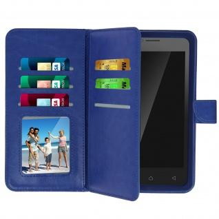 Universal Flip Cover Geldbörse mit 6 Kartenschlitzen Größe 3XL â€? Blau