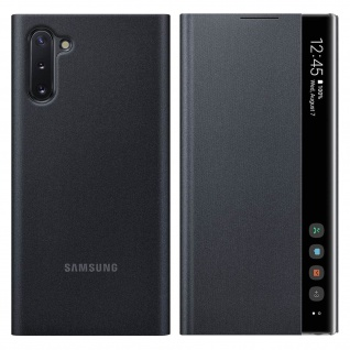 Original Samsung Clear View Cover für Samsung Galaxy Note 10 - Schwarz