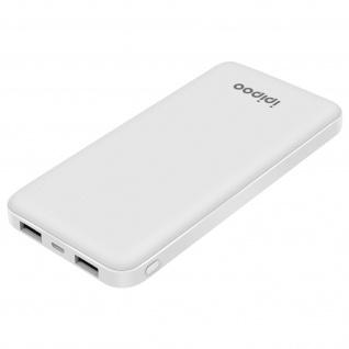 10.000mAh Powerbank mit 2x USB-Ports, weiß - Ipipoo LP-50