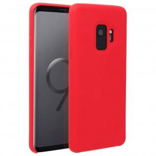 Halbsteife Silikon Handyhülle Galaxy S9, Soft Touch - Rot