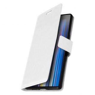 Flip Stand Cover Brieftasche & Standfunktion für Sony Xperia 10 - Weiß - Vorschau 2