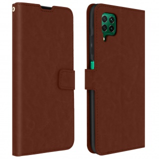 Flip Stand Case Brieftasche & Standfunktion für Huawei P40 Lite - Braun