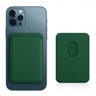 Magsafe iPhone 12 Kartenetui aus Leder, magnetische Befestigung ? Grün
