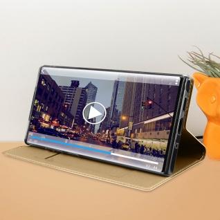 Flip Cover, Klappetui mit Kartenfach & Standfunktion Samsung Galaxy Note 10 Gold - Vorschau 3