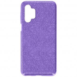 Schutzhülle, Glitter Case Samsung Galaxy A32 5G, shiny & girly Hülle â€? Violett