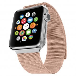 Apple Watch 42 / 44mm Milanaise Armband, Edelstahl Armbanduhr ? Roségold