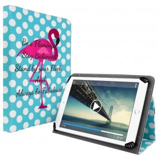 """Universal Flip Cover für Tablets von 9'' bis 10'' """" Flamingo"""" Design"""