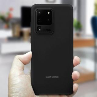 Original Samsung Soft Touch Cover Silikon für Samsung Galaxy S20 Ultra - Schwarz - Vorschau 4