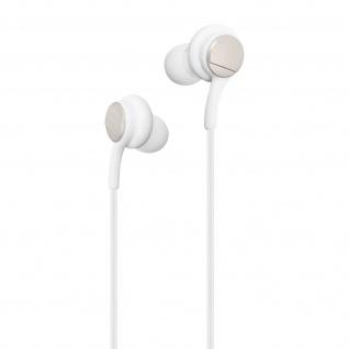 Stereo In-ear Kopfhörer 3.5mm Klinkenstecker, Mikrofon & Fernbedienung - Weiß
