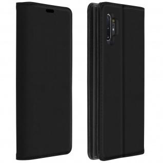 Wallet Cover, Klapphülle Galaxy Note 10 Plus, Kartenfach und Ständer - Schwarz
