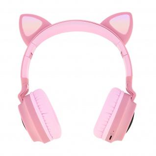 Katzenohren kabellose Bluetooth Kopfhörer, Kitty Headset - Rosa