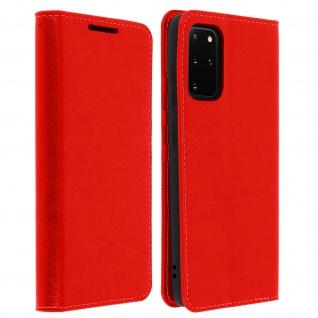 Business Leder Cover, Schutzhülle mit Geldbörse Samsung Galaxy S20 Plus - Rot