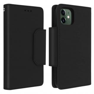 Soft Touch Klappetui mit abnehmbarer Hülle iPhone 11, Geldbörse ? Schwarz