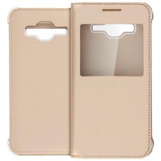 S-View Flip-Schutzhülle für Samsung Galaxy J3 - Gold - Vorschau 2