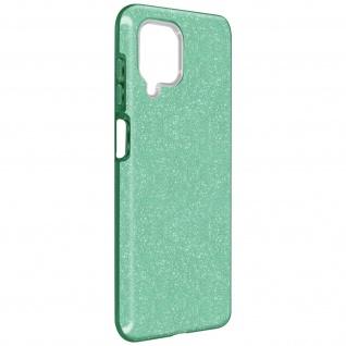Schutzhülle, Glitter Case für Samsung Galaxy A12, shiny & girly Hülle â€? Grün