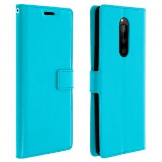 Flip Stand Cover Brieftasche & Standfunktion für Sony Xperia 1 - Blau
