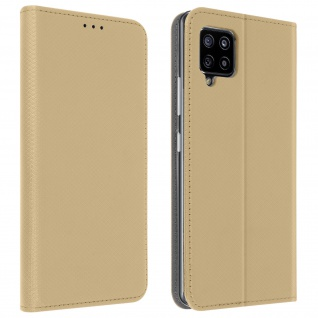 Samsung Galaxy A42 5G Flip Cover mit Standfunktion ? Gold
