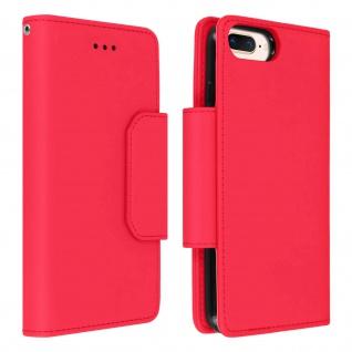Soft Touch Klappetui mit Hülle für iPhone 6 Plus/6S Plus/7 Plus/8 Plus ? Rot