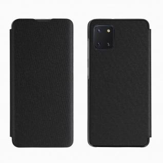 Samsung Galaxy Note 10 Lite Wallet Cover mit Visitenkarteneinschub � Schwarz
