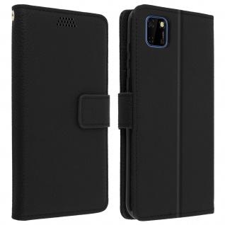 Huawei Y5p Flip-Cover mit Kartenfächern & Standfunktion - Schwarz
