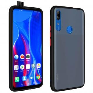 Peach Series harte Handyhülle Huawei P Smart Z, Honor 9X, farbiger Rand- Schwarz