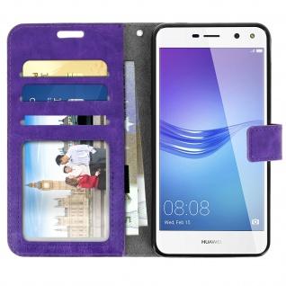 Flip-Cover Stand Case Brieftasche & Standfunktion für Huawei Y6 2017 - Violett - Vorschau 3