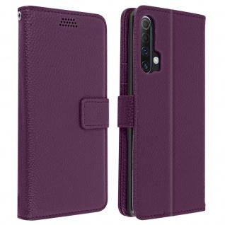 Realme X3 Superzoom / X50 / 6 Pro Cover mit Kartenfächern & Ständer ? Violett