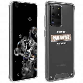 """Handyhülle für Samsung Galaxy S20 Ultra, Made in France ? """" Paillettes"""" Design"""