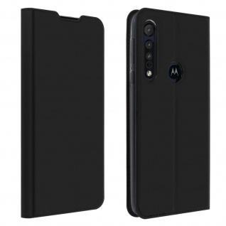 Klappetui mit Kartenfach & Standfunktion Motorola One Macro - Schwarz