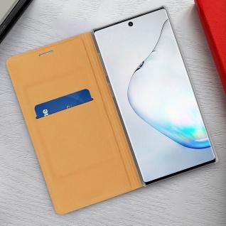 Flip Book Cover, Klappetui aus Kunstleder für Samsung Galaxy Note 10 - Gold - Vorschau 3