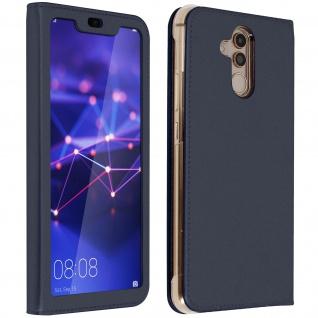 Flip Cover mit Smart View Sichtfenster für Huawei Mate 20 lite - Dunkelblau