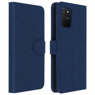 Flip Cover Geldbörse, Klappetui Kunstleder für Samsung Galaxy S10 Lite - Blau