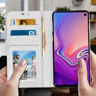 Flip Stand Cover Brieftasche & Standfunktion für Samsung Galaxy S10 - Weiß - Vorschau 3