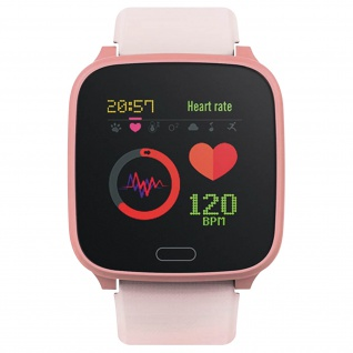 IP68 wasserdichte Kinder Smartwatch Silikon-Armband, iGO Forever ? Rosa