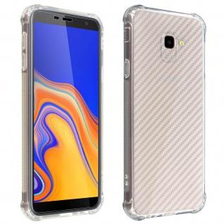 Samsung Galaxy J4 Plus 360°Premium Schutz-Set, mit Metallplättchen - Transparent