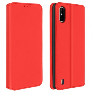 Kunstleder Cover Classic Edition für Wiko Y81 ? Rot