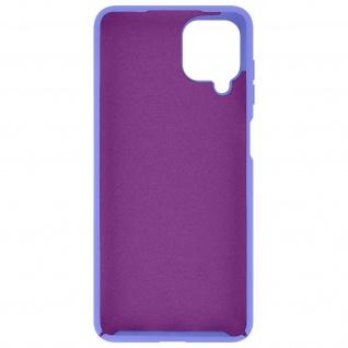 Halbsteife Silikon Handyhülle für Samsung Galaxy A12, Soft Touch ? Violett