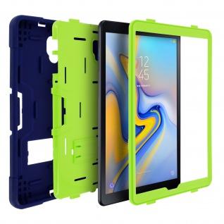 Samsung Galaxy Tab A 10.5 silikon stoßfeste Schutzhülle ? Dunkelblau / Grün