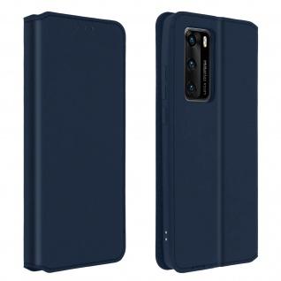Kunstleder Cover Classic Edition Huawei P40 - Blau