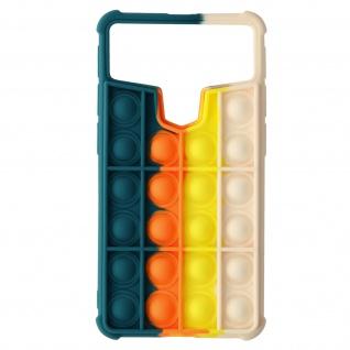 Bubble Pop Hülle 5.3 ? 5.6'' Smarphones - Dunkelblau / Orange / Gelb / Hellrosa
